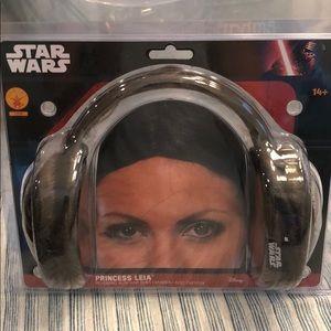 Princess Leia Headband with Hair Buns